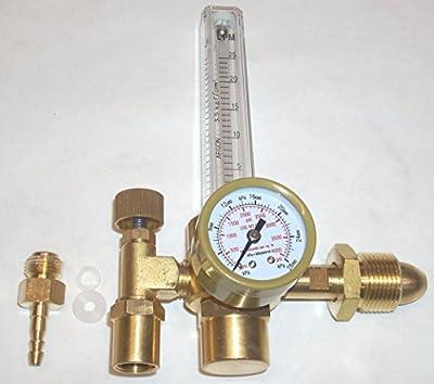 Argon or Argon/CO2 Flowmeter for Mig Tig or Welding Regulator CGA 580