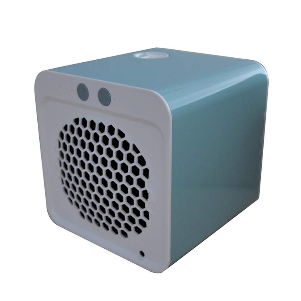 JinJin Mini Air Cooler USB Water Cooled Electric Fan Household Portable Air Conditionin (Light blue)
