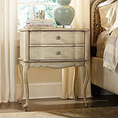 Hooker Furniture Sanctuary 2-Drawer Leg Nightstand in Pearl Essence