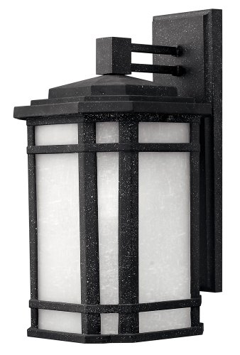 Hinkley 1274VK-GU24 Craftsman/Mission One Light Wall Mount from Cherry Creek collection in Blackfinish, - Black Cherry Outdoor Wall Mount