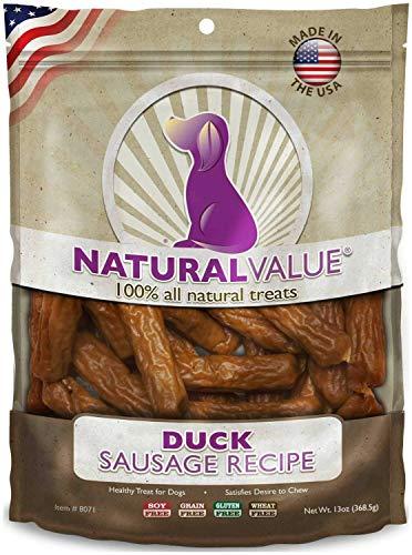 Loving Pets Natural Value Soft Chew Duck Sausages 5.25lb (6 x 14oz)