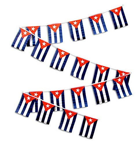 Mikash 30ft String Flag Set of 20 Cuba Cuban 12x18 Bunting Flag Banner Flags | Model FLG - 2646