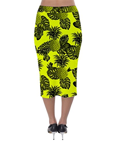 CowCow - Falda - para mujer Yellow and Black