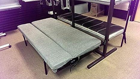 Admirable Rb Components Folding Sofa Sleeper 58 Inch Black Vinyl Creativecarmelina Interior Chair Design Creativecarmelinacom