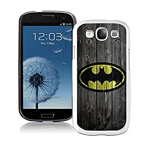 Batman 10 White Cool Photo Custom Samsung Galaxy S3 I9300 Phone Case