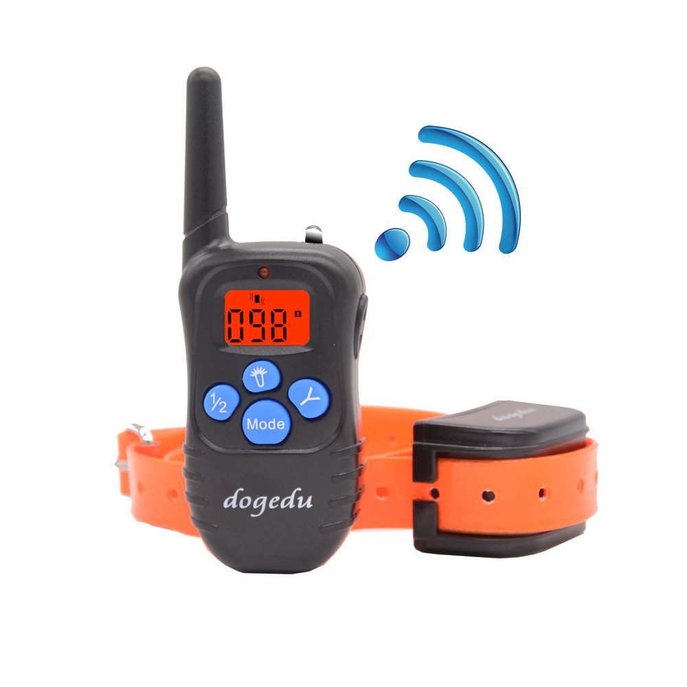Dogedu DU518DRY1 Rechargeable Rainproof Dog Training E-Collar With Remote/Sho