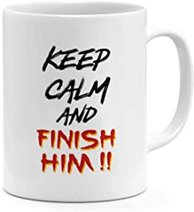 Finishim Him 11oz Coffee Mug Mortal Kombat 11oz Ceramic Novelty Mug