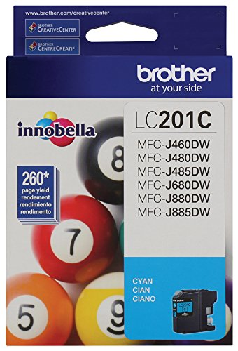 Brother LC201C Standard Yield Cyan Ink (Cyan Brother Ink)