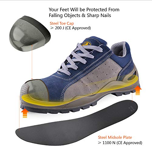 f4807d2cf1ce SAFETOE Breathable Leather Safety Shoes  CE Certified  - 7295 ...