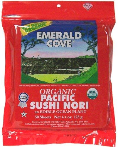 Emerald Cove Silver Grade Organic Pacific Sushi Nori, 50 ct by Emerald Cove