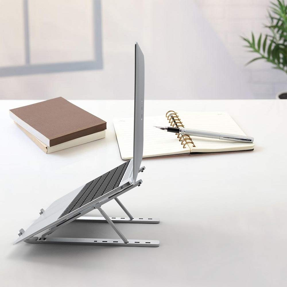 Pemsem Portable Foldable Laptop Stand - Universal Angel Adjustable Lightweight Aluminum Alloy PC Stand Compatible wit MacBook ThinkPad Notebook Tablets iPad
