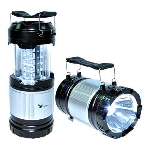 G & F 2 in 1 LED Lantern + Flashlight, Ultra Bright LED Lantern with flashlight for camping, hiking, Emergencies, Hurricanes, Outages, Storms, Camping - Multi Purpose, 2 Lanterns value ()