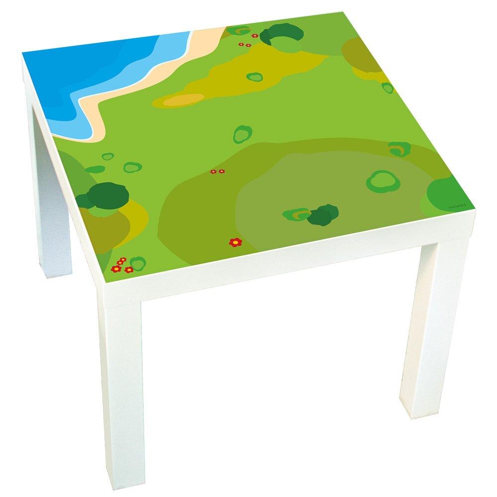 Möbelaufkleber Spielwiese -passend für IKEA LACK Beistelltisch - Kinderzimmer Spieltisch - Möbel nicht inklusive Limmaland