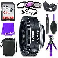 Canon EF-S 24mm f/2.8 STM Lens for Canon DSLR Cameras &...