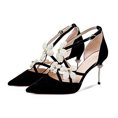 en en de con zapatos Tamaño primavera con punta punta de alto EU39 UK6 de tacón tacón ZHIRONG CN39 Zapatos mujer de con punta forma fina mujer Zapatos en ZBOxq