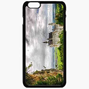 Unique Design Fashion Protective Back Cover For iPhone 6 Plus Case Slim (5.5 inch) Germany Southwestern Bayern Castle Neuschwanstein Forest Black