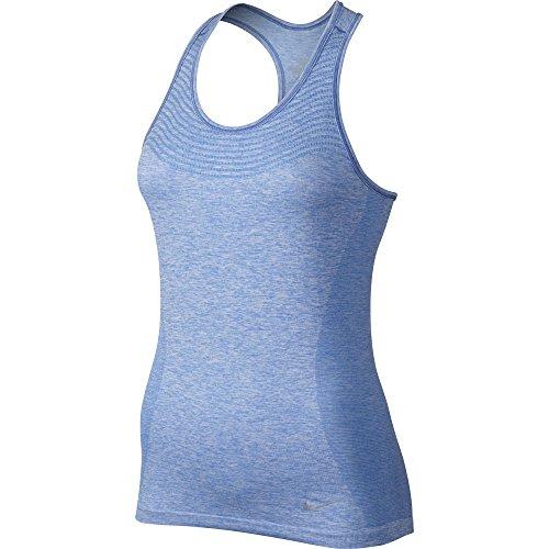 Nike Women's Dri-FIT Knit Running Tank (Small, Blue)