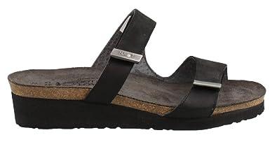 555c33a7ed75 NAOT Footwear Women s Jacey Black Velvet Nubuck Black Raven Lthr Sterling  Lthr Sandal 35