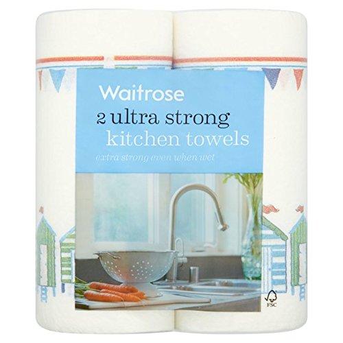 過半数ケージ提案Ultra Strong Kitchen Towels Waitrose 2 per pack - 超強力なキッチンタオルは、パックごとに2ウェイトローズ [並行輸入品]