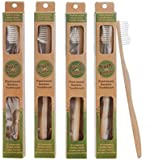 Plant-based Bamboo Toothbrush Adult Size 4 Pack