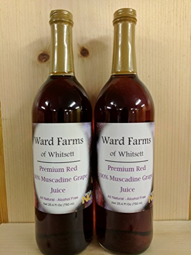 Premium Red 100% Muscadine Juice- 6 Pack