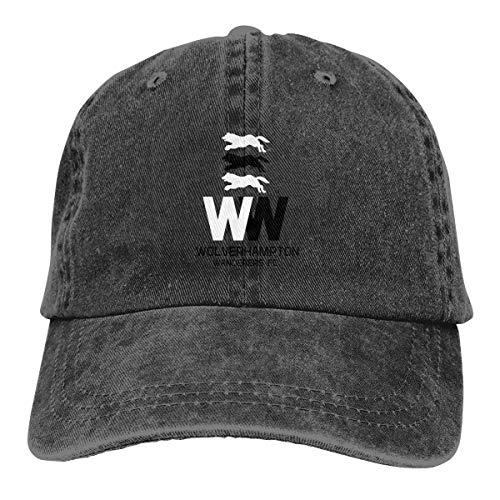 Cowboy Hat for Men Women, Wolverhampton Wanderers FC Badge 1 Gold Twill Adjustable Baseball Cap Breathable Sun Hats