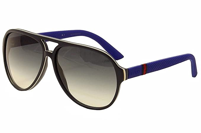 2dc6599460 Image Unavailable. Image not available for. Colour: Gucci Aviator  Sunglasses in Blue Rubber GG 1065/S 4UV 59