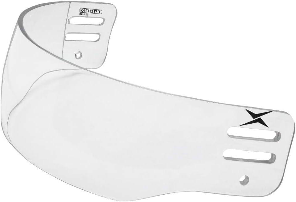 TronX S40 Vented-Cut Hockey Helmet Clear Visor (Anti-Scratch/Anti-Fog) CE Certified : Hockey Masks And Shields : Sports & Outdoors