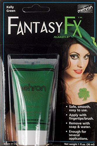 Green Cream Makeup Tube - Mehron Fantasy FX Tube Water Based Face Paint 1oz Cream Makeup, Kelly Green