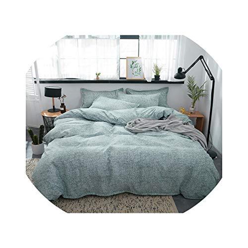 Tel Que Montré 1 8m width bed(4pcs) longing-été Parure de lit 3 4 pièces en Coton Aloe avec Housse de Couette, Drap Plat, Housse de Couette et taie d'oreiller Vert, Coton, Tel Que montré, 1 8m Width Bed(4pcs)