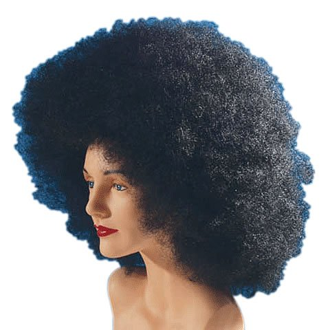 Loftus International Star Power Giant Super Fro Halloween Afro Wig Black One Size Novelty Item Giant Afro Wig