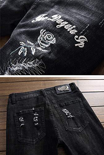Midi Senza Fit Skinny Di Size Slim Cinturino Uomo Regular Stretch color 29 Pantaloni Jeans Da Dritti 12 qxfgPwp