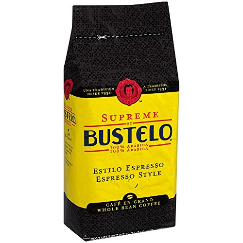 Supreme by Bustelo Whole Bean Espresso Coffee, 32-Ounce Bag (2 Pounds)