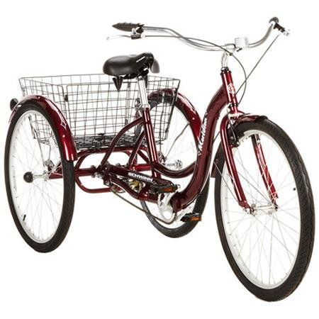 26'' Schwinn Meridian Adult Tricycle in Cherry, Blue, Silver, or Mint Green by Meridian Adult Tricycle