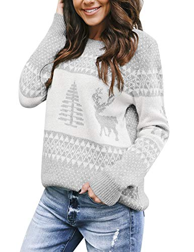 Women's Christmas Tree Reindeer Sweater