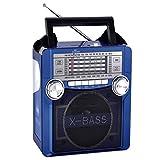 QFX Karaoke Multimedia Speaker withAM/ FM Radio- Blue consumer electronics Electronics