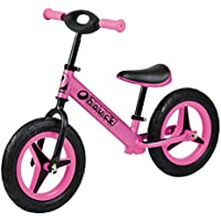 Hauck Aluminum Rider Balance Bike with Quick Release Adjustable Handle (Pink)