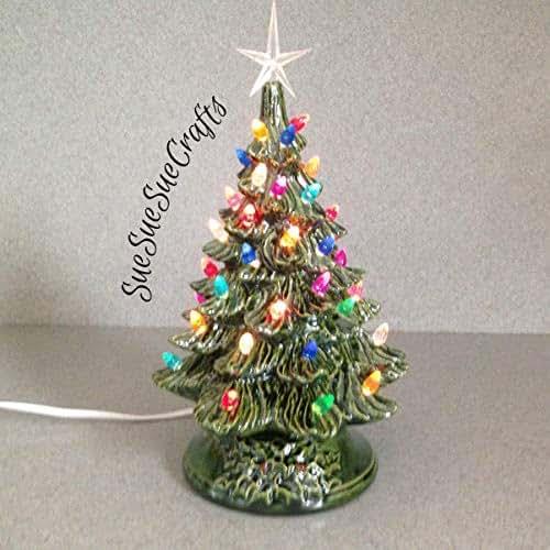 Amazon Com Ceramic Christmas Tree 11 Quot Tall Christmas