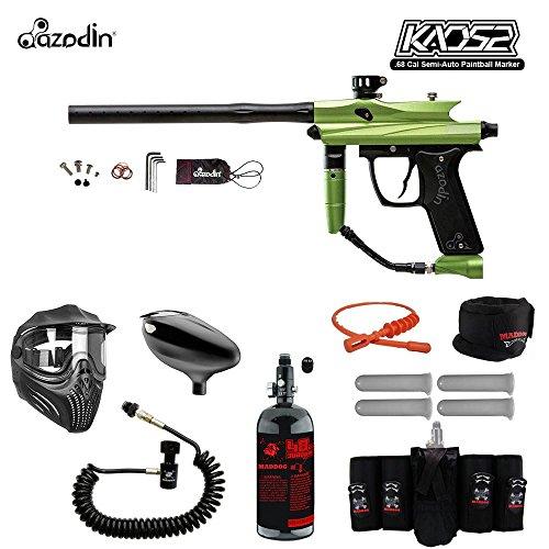 MAddog Azodin KAOS 2 Elite Remote HPA Paintball Gun Package - Green/Black