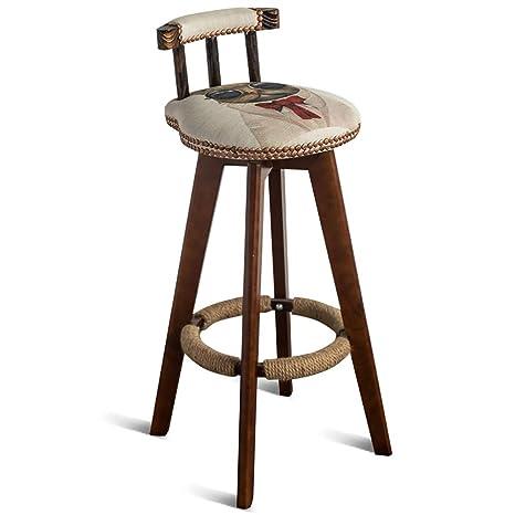 Remarkable Amazon Com Rotating Bar Stool Vintage Solid Wood High Camellatalisay Diy Chair Ideas Camellatalisaycom