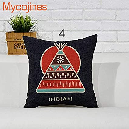 Amazon.com: Native American Indian Cushion Cover Pillow Case ...