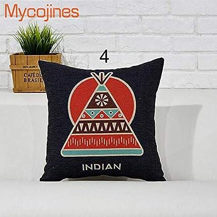 Amazon.com: Native American Indian Cushion Cover Pillow Case ...