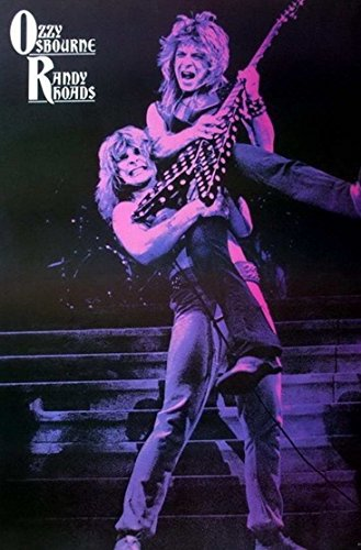 Ozzy Osbourne & Randy Rhoads Heavy Metal Rock Band Music Poster Size 24x35 J-1119