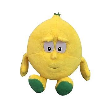 Greetuny 1pcs Verduras y Frutas Peluche Lindo Infantil Peluche Bebe Creativo Juguete Suave Relleno Muñecas Regalo (Limón)