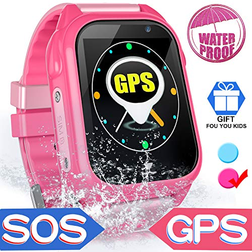 Kid Smart Phone Watch - IP67 Waterproof Accurate GPS Tracke for Girls Boys  Back to School Gift Smartwatch with Game SOS Call Camera Electronic
