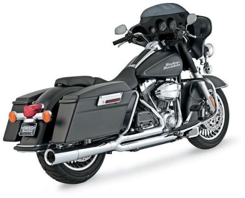 - Vance & Hines 2 Into 1 Pro Pipe Exhaust Chrome 17557