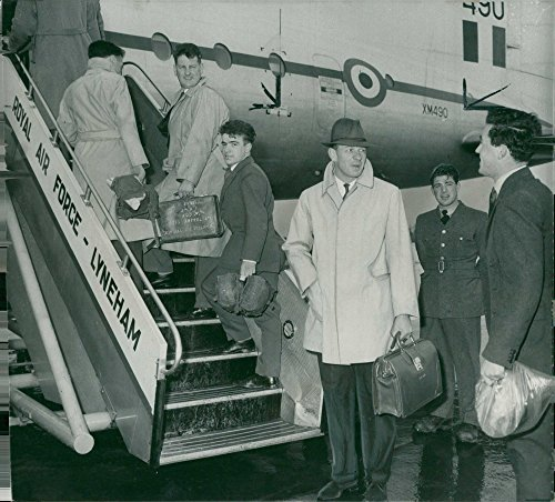 Vintage photo of Robert Barber photograph at R.A.F. Lyneham before flying to Singapore.