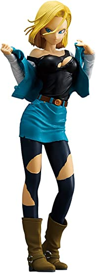 B Glitter /& Glamours Figure Bandai Banpresto Dragonball Z Android 18 II Ver