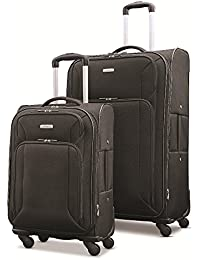 "Victory 2 Piece Nested Softside Set (21""/29""), Black, Only at Amazon"