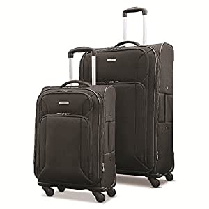 """Samsonite Victory 2 Piece Nested Softside Set (21""""/29""""), Black, Only at Amazon"""